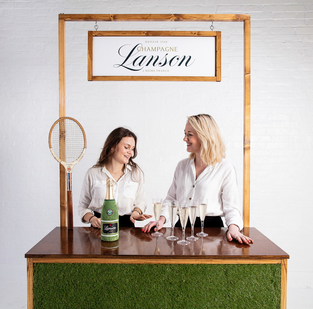 Quirky Group grass bar for hire with brand ambassadors serving drinks