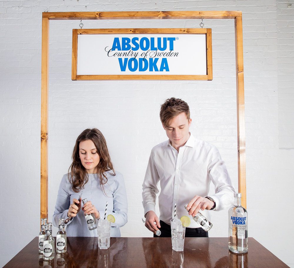 Quirky Group Fully Branded Bar with Brand Ambassadors