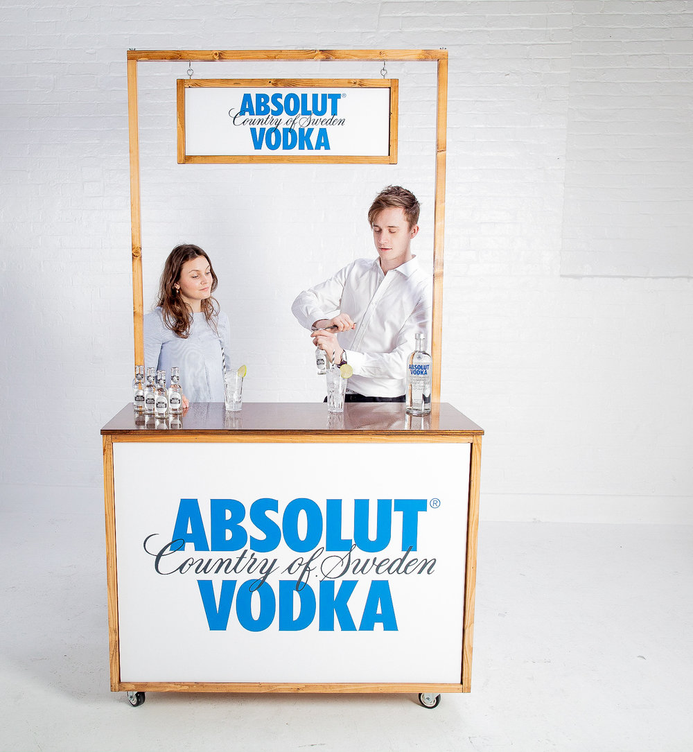Quirky Group Fully Branded Bar with Bartenders Brand Ambassadors