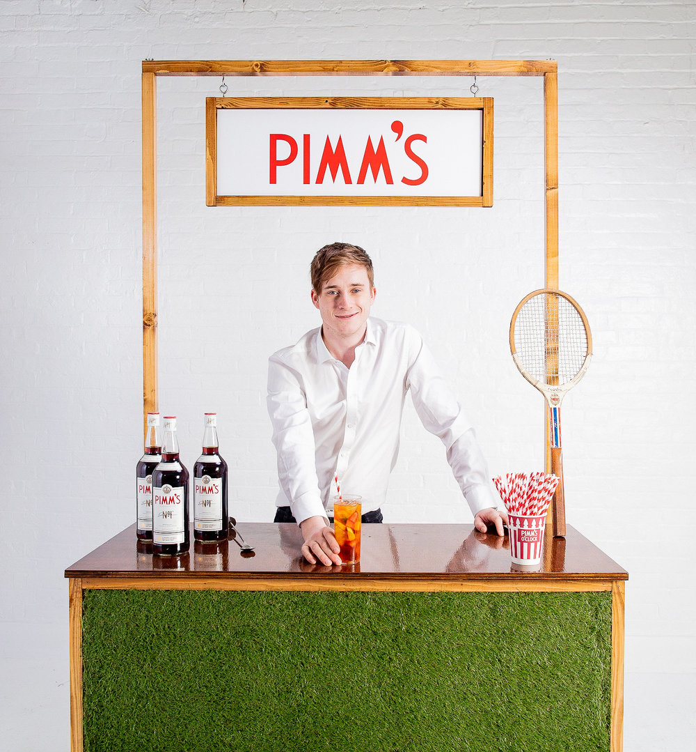Quirky Group Pimm's Grass Bar with Bartender