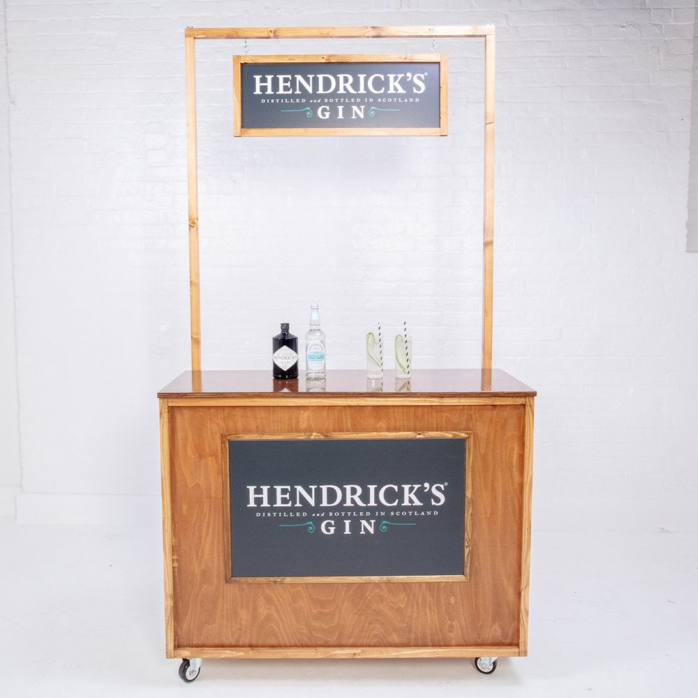 Quirky Group small wooden bar for hire