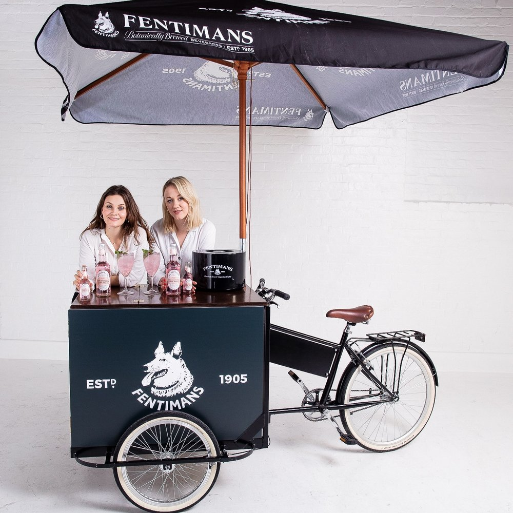 Tricycle Bar quirky group prop hire with Brand Ambassadors