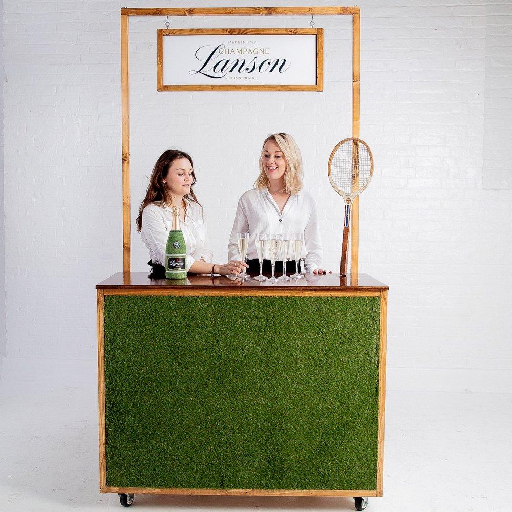 grass bar branding prop hire