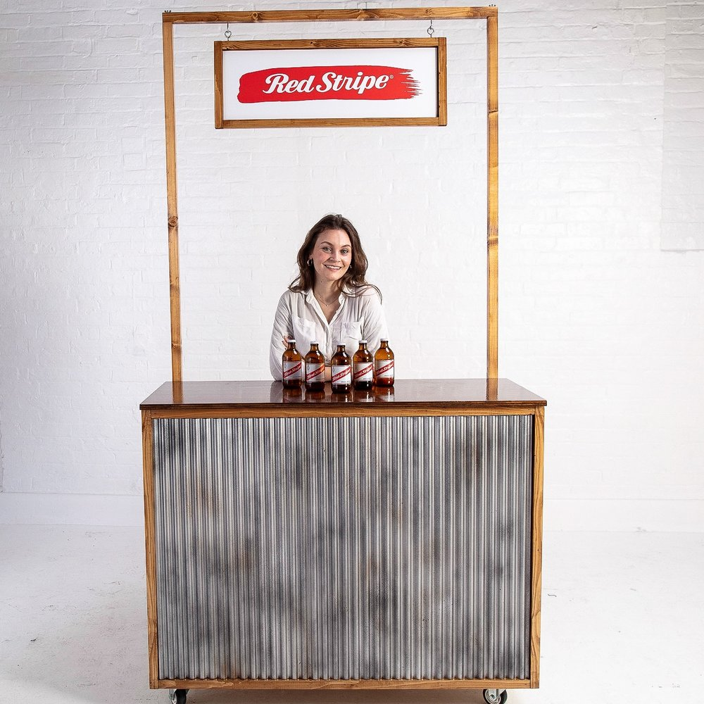 Industrial corrugated iron bar to rent prop hire