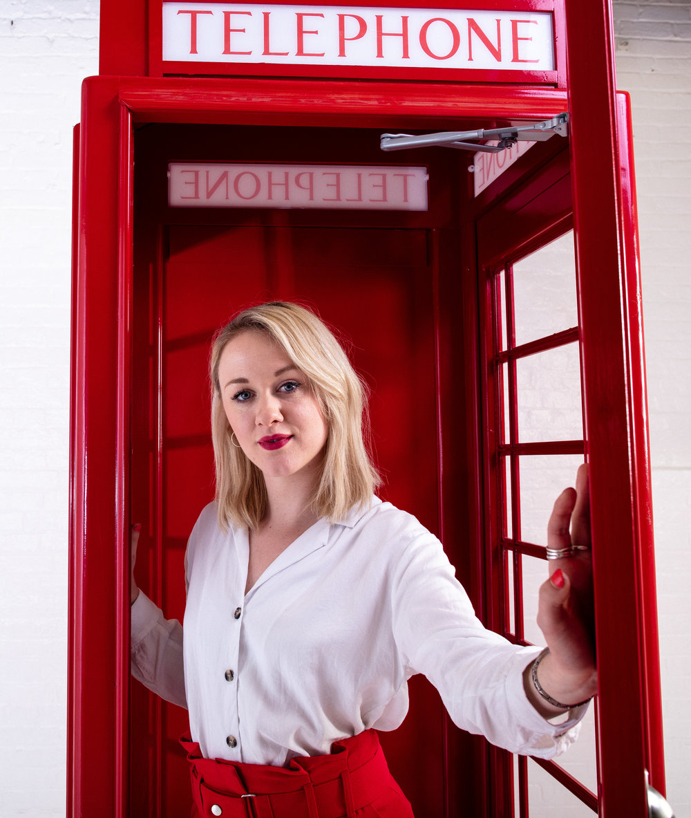 Quirky Group Phone Box bar hire with brand ambassador