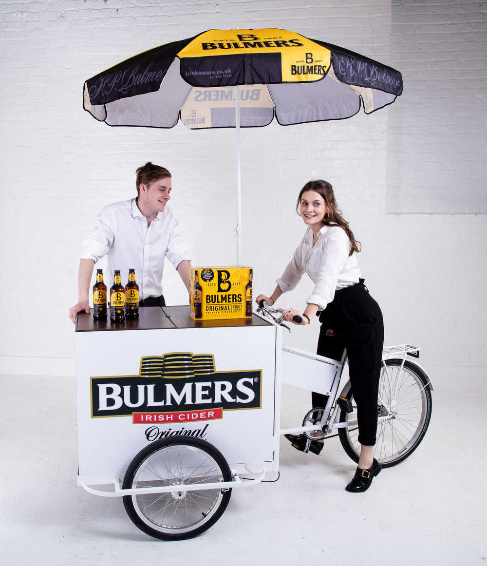 Cargo Tricycle Quirky Group Product Sampling with Brand Ambassadors