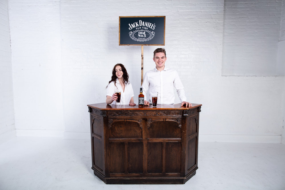 Quirky Group Classic Cocktail Bar for hire with brand ambassadors
