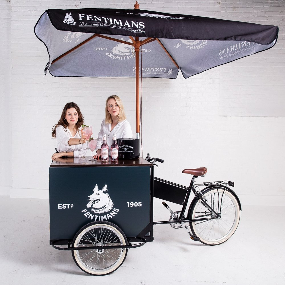 Quirky Group Tricycle Bar Hire Branded Bar