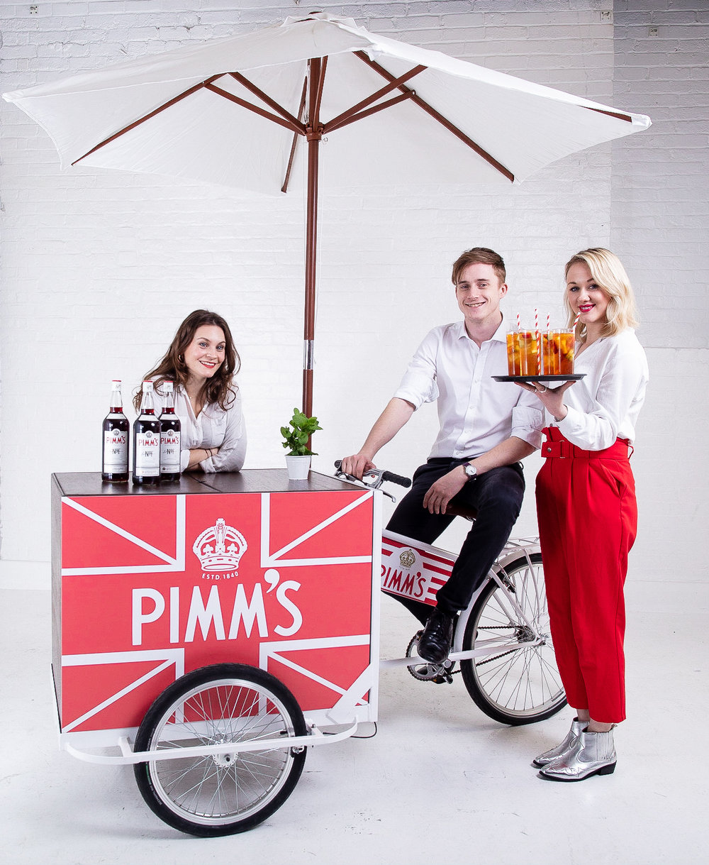 quirky Group Pimm's Bars with Brand Ambassadors