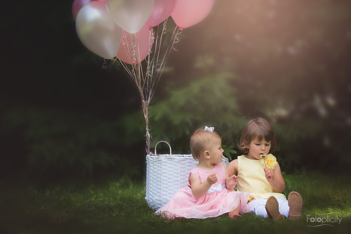 children with balloons by fotoplicity