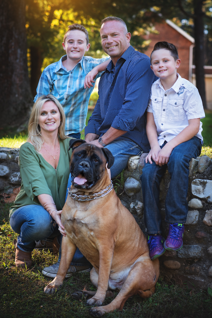 Fall Family Session with dog