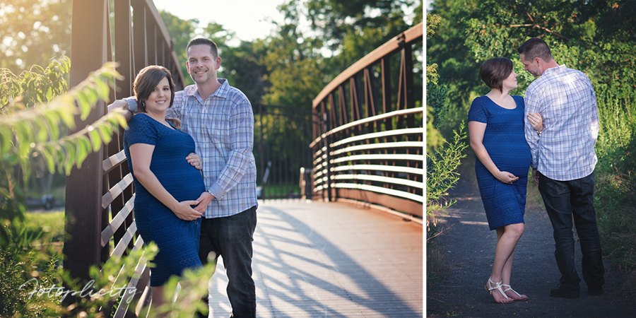 Photo of maternity couple in Edison NJ