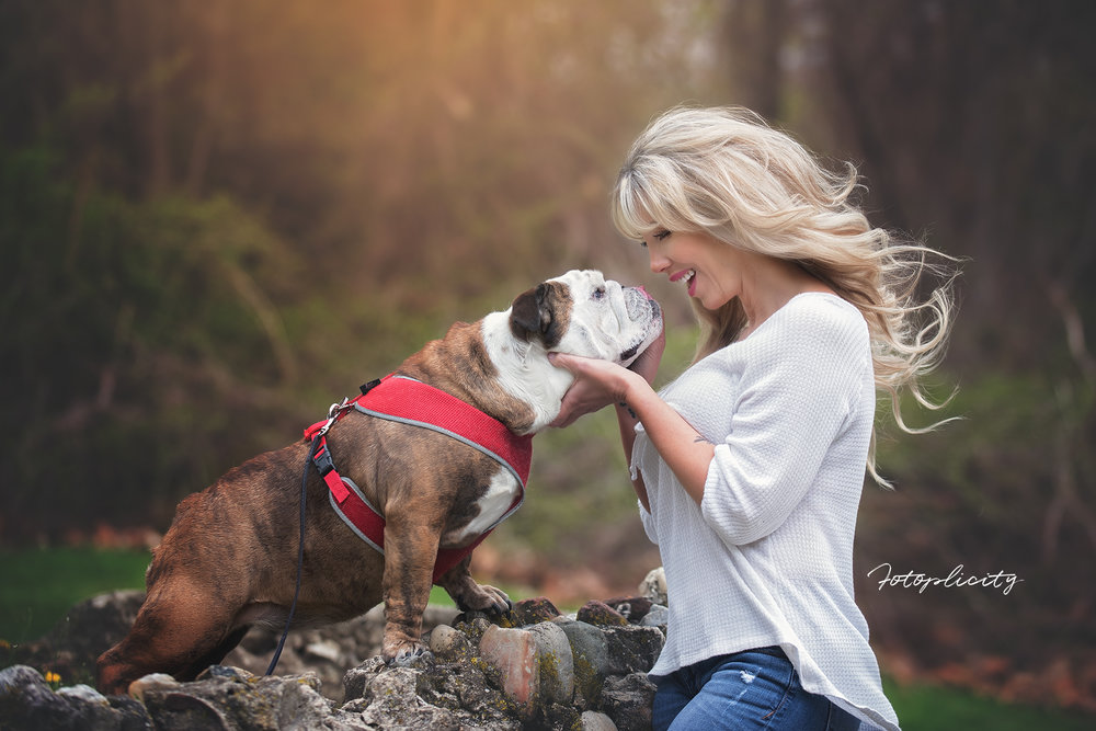 Woman with dog by Fotoplicity
