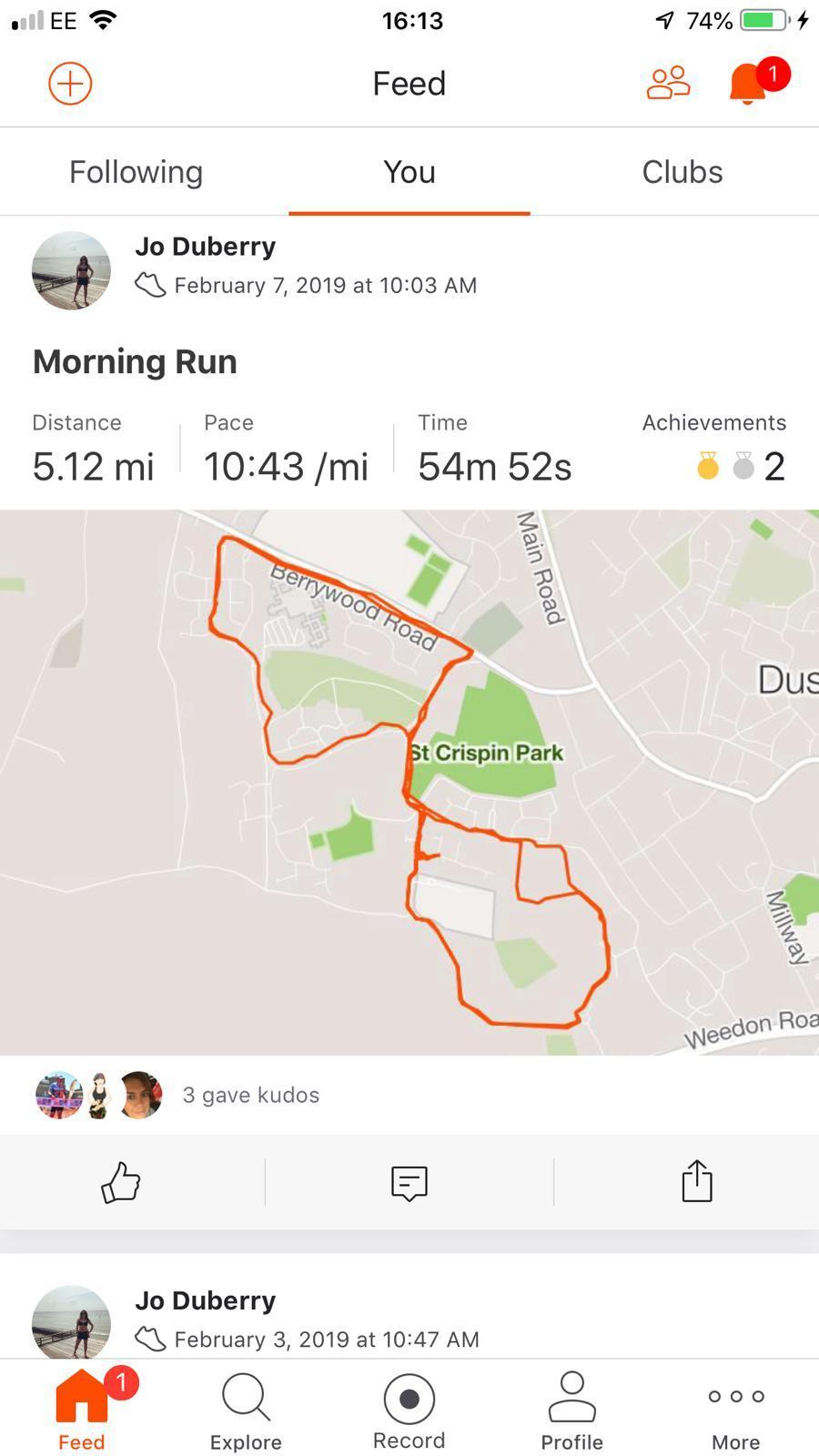 Jo Duberry Run in Northamptonshire