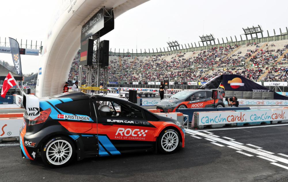 Tom Kristensen and Sebastian Vettel square off against each other in ARX2 cars