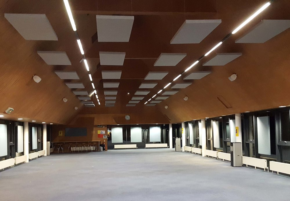 school hall acoustic panels