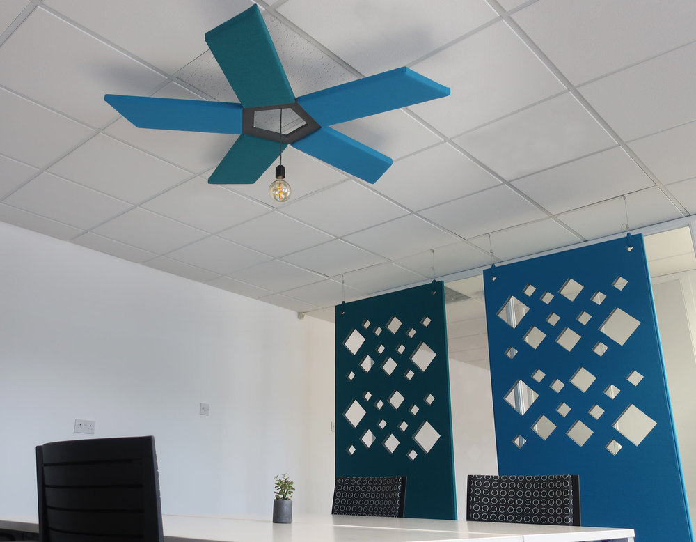 Office Acoustic Ceiling Feature