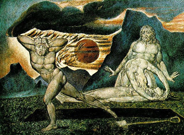 William Blake - Le corps d'Abel trouvé par Adam et Ève