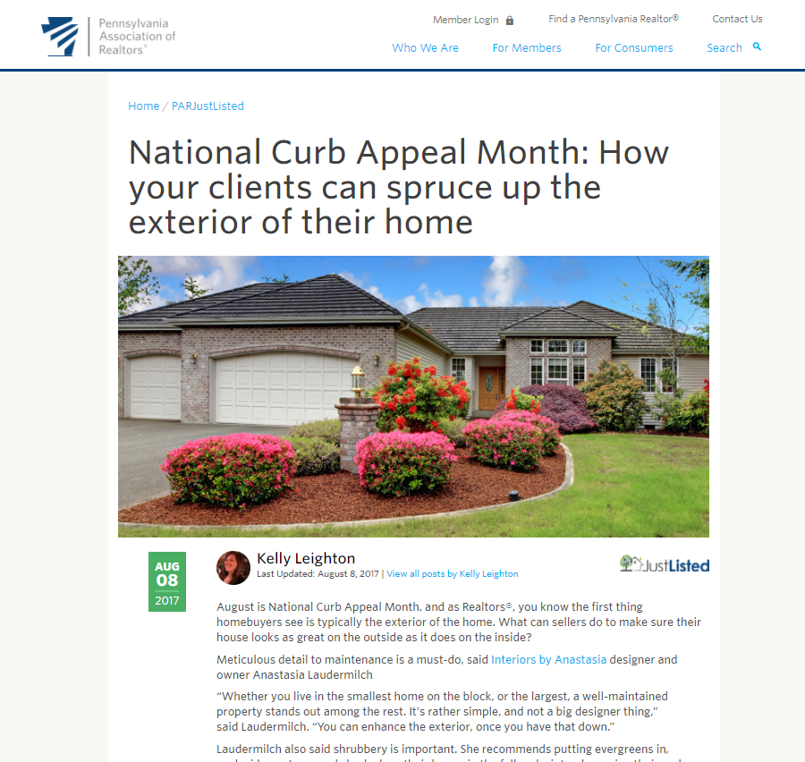 Curb Appeal - How to spruce up the exterior of your home - 2017