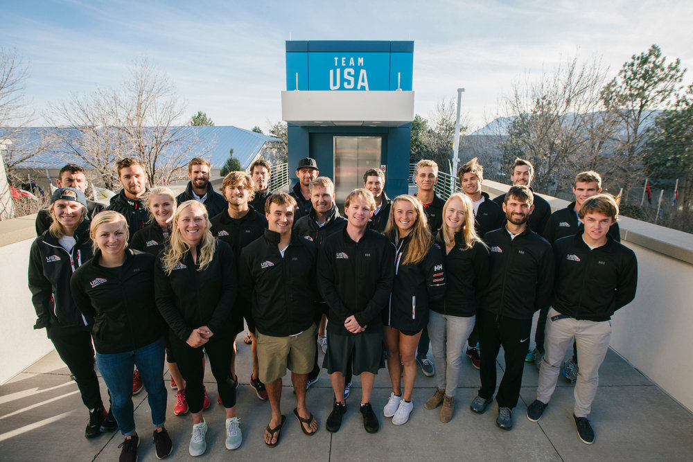 2018 US Sailng Team at the Colorado Springs Olympic Training Center