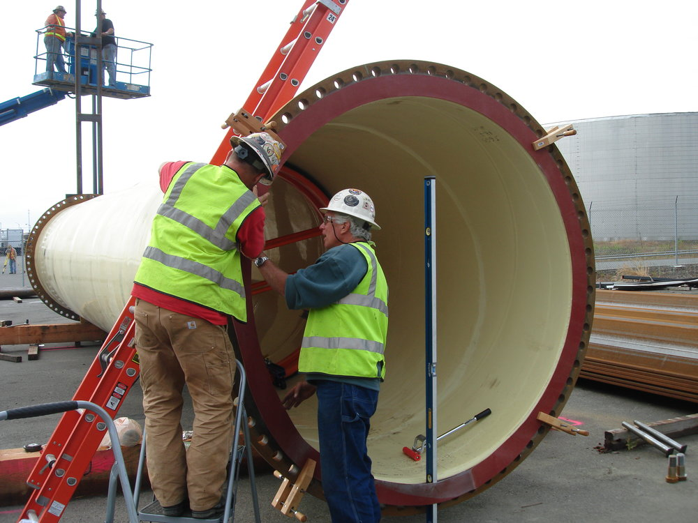 BWO Steel Pipe - Divers Mark Duffy & Dave Mednick Installing Rubber Gasket 027.JPG