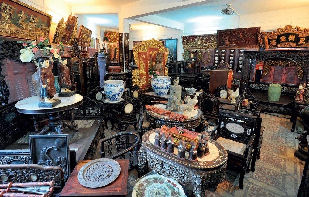 Mercado das pulgas. Foto:  Saigon Tours
