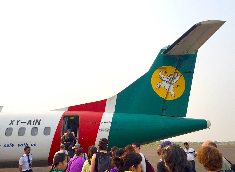 Yangon Airways. Se até os elefantes voam, porque você não pode? Foto: Patti Neves