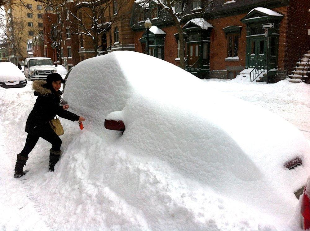 Quando eu morava em Montreal. Por acaso ninguém nunca vinha me visitar no inverno. Foto: David Mattatia