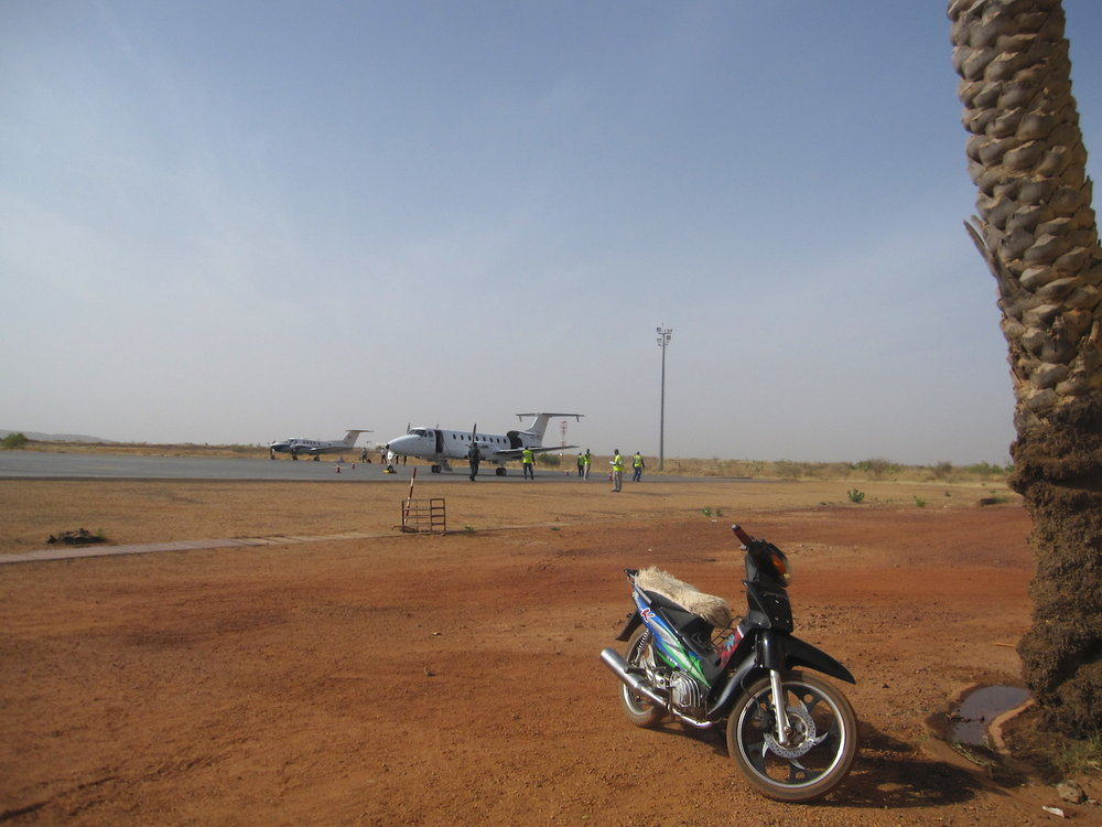 Mopti, pista do aeroporto. Foto: Patti Neves