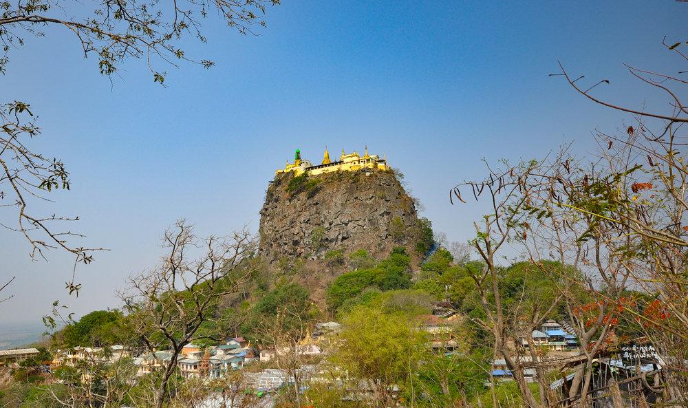 Approaching Mount Popa. Photo: Patti Neves