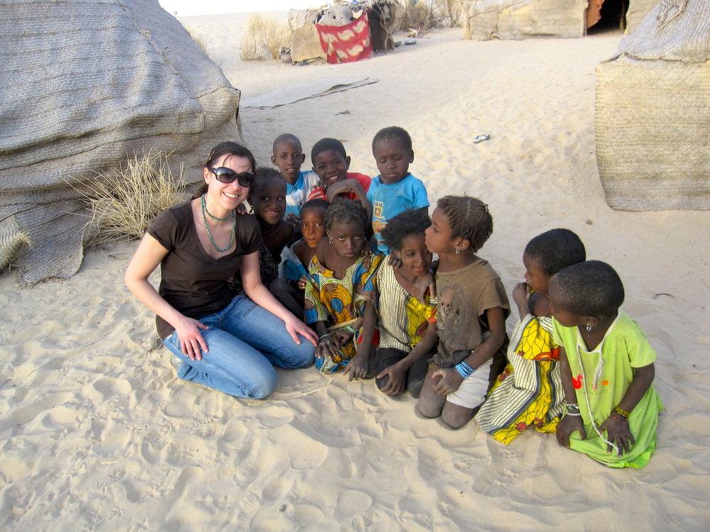 Some children living near the Tuareg base-camp, North of Timbuktu. Photo: Patti Neves