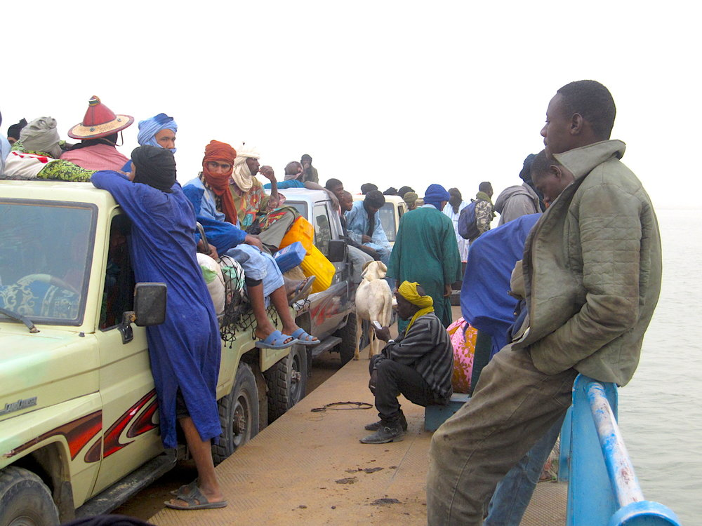 Ferry leaving Timbuktu. If you hate being surrounded by tourists, this place is the place for you. Photo: Patti Neves