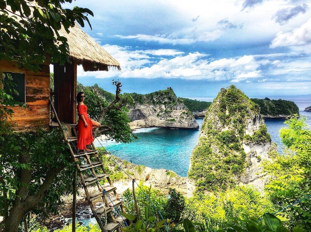 Casinha da árvore em Nusa Penida, Bali. Foto: David Mattatia
