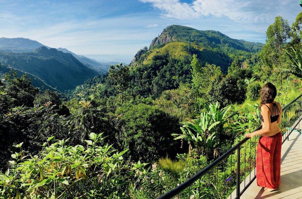 Nossa varanda no Ella Gap Panorama, Sri Lanka. Foto: David Mattatia
