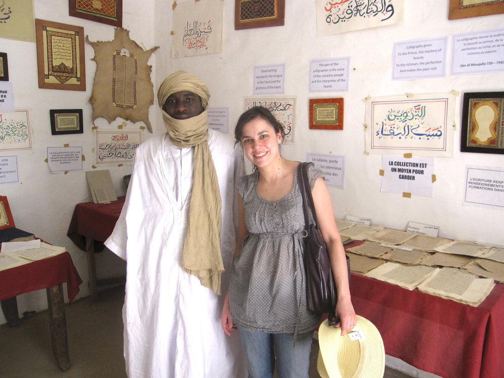 Visita guiada dos manuscritos em Timbuktu. Foto: Patti Neves