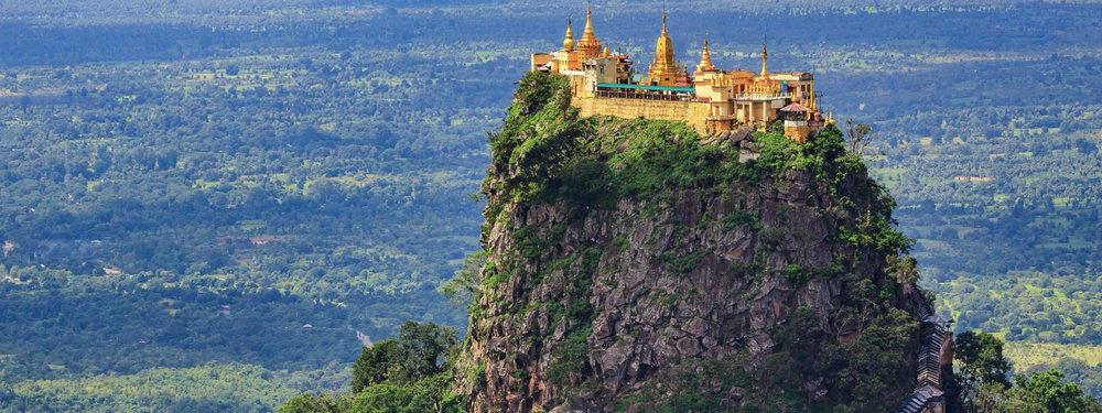 O magnífico monastério de Monte Popa, Myanmar. Foto:  TourHQ