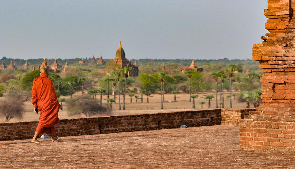 Monge em Bagan. Foto: David Mattatia