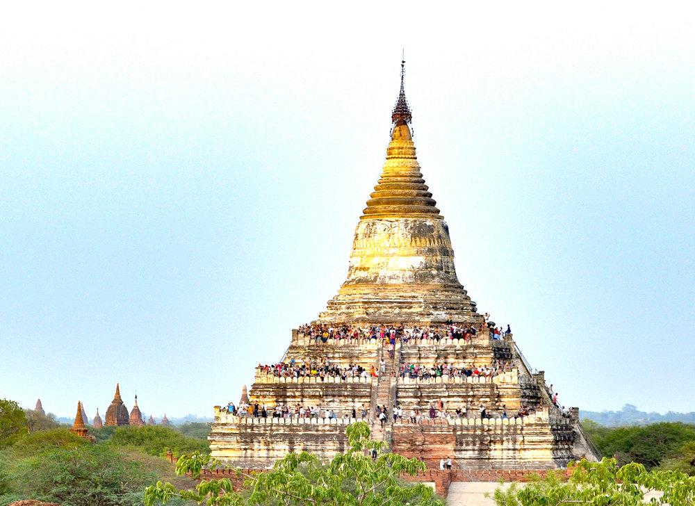 "Shwesandaw, o templo ""protetor dos turistas"". Foto: David Mattatia"