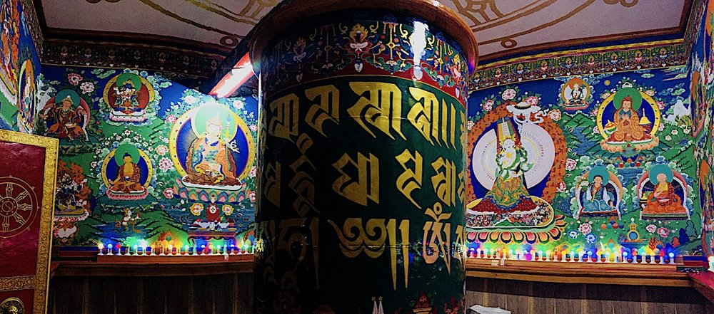 Prayer wheel at Dalai Lama's. Photo: Patti neves