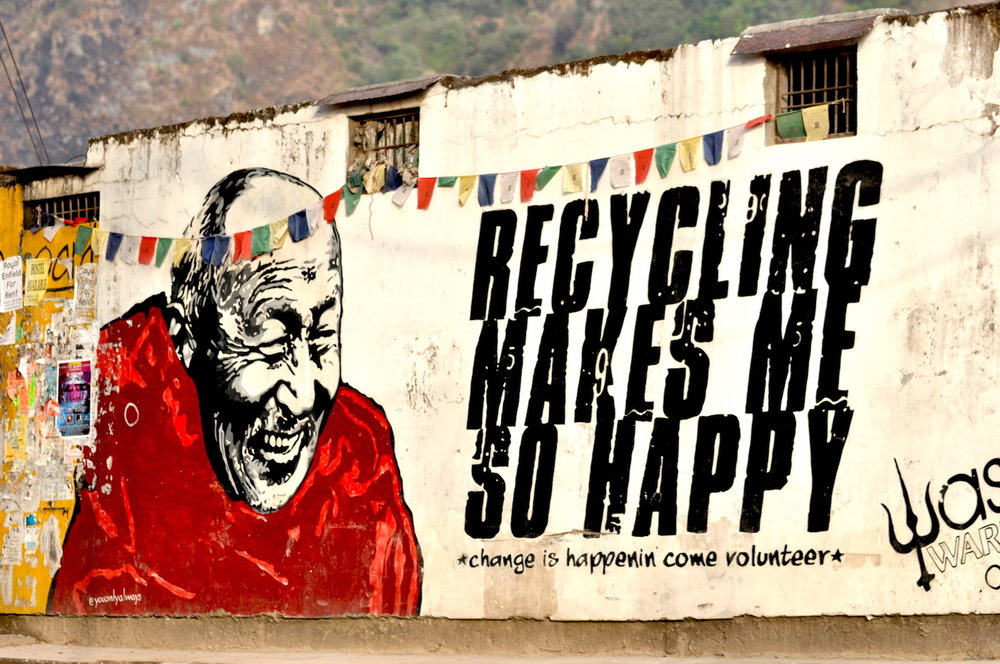 Mural de Dalai Lama em McLeod. Foto: Patti Neves