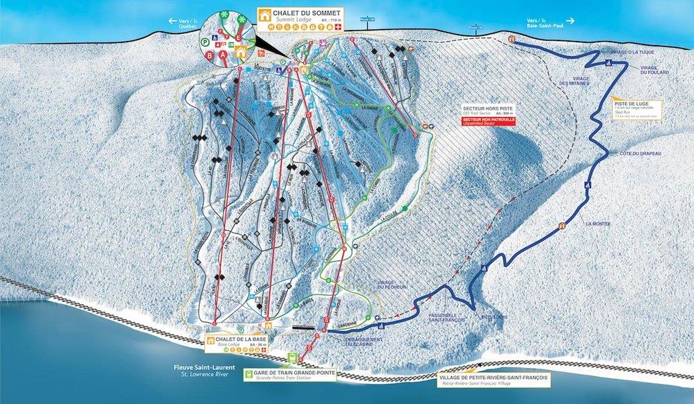 Massif de Charlevoix.  Trail Map