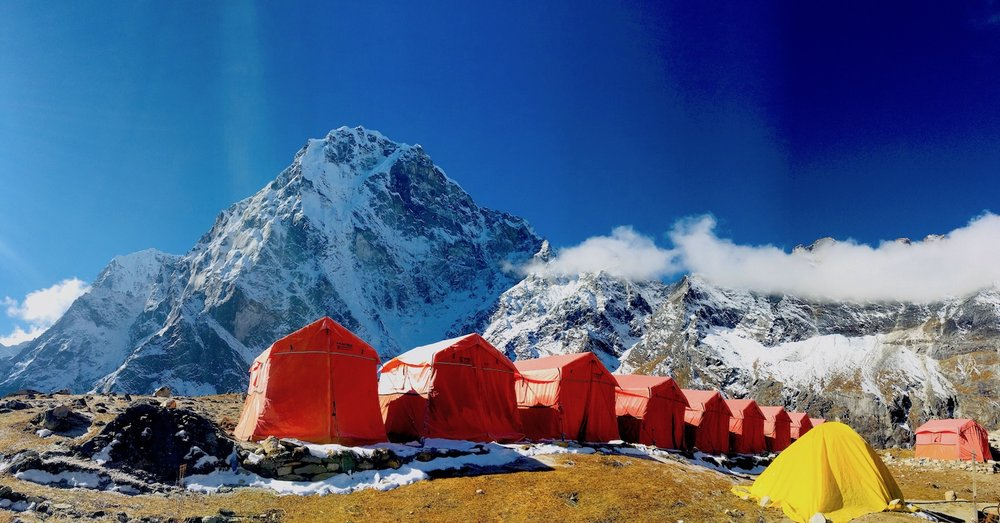 Acampamento em Dzongla. Foto: Patti Neves