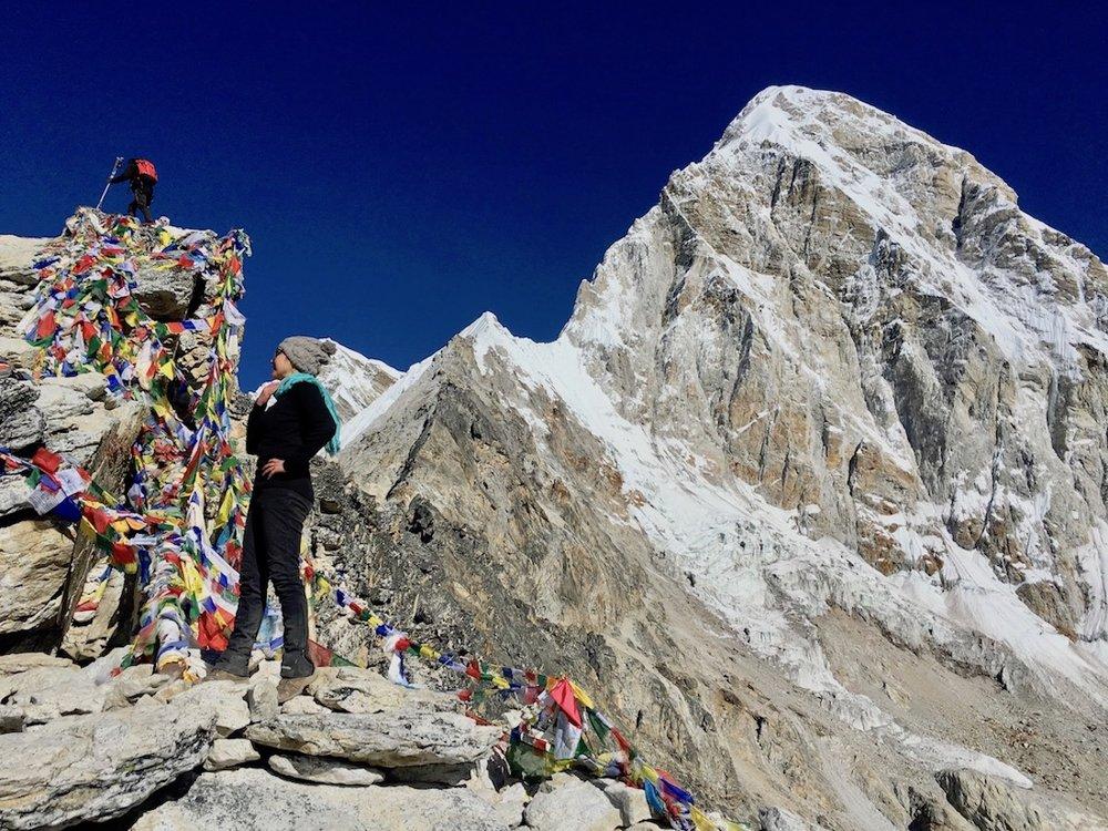 Passando mal na subida do Kalapathar… (5.545m).