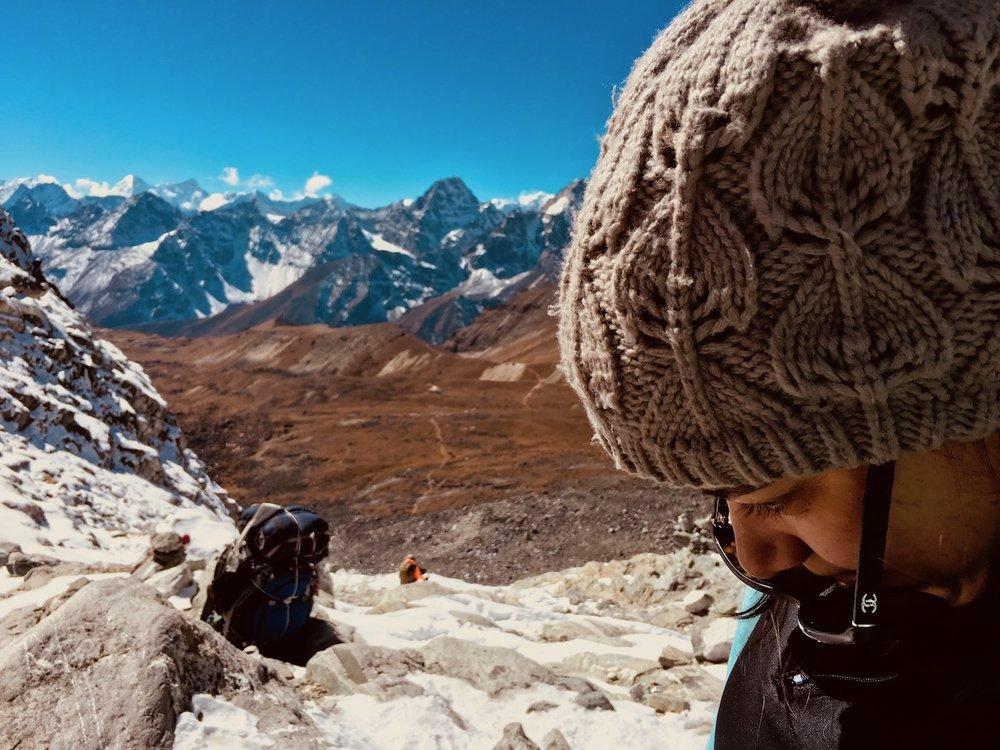 Perdendo o ar no Chola Pass…