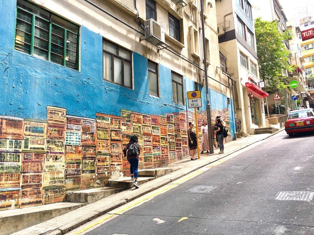 Grafite em Hong Kong. Foto: Patti Neves
