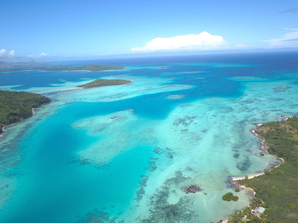 Roteiro em Fiji: Yasawas vista pelo nosso drone. Foto: David Mattatia
