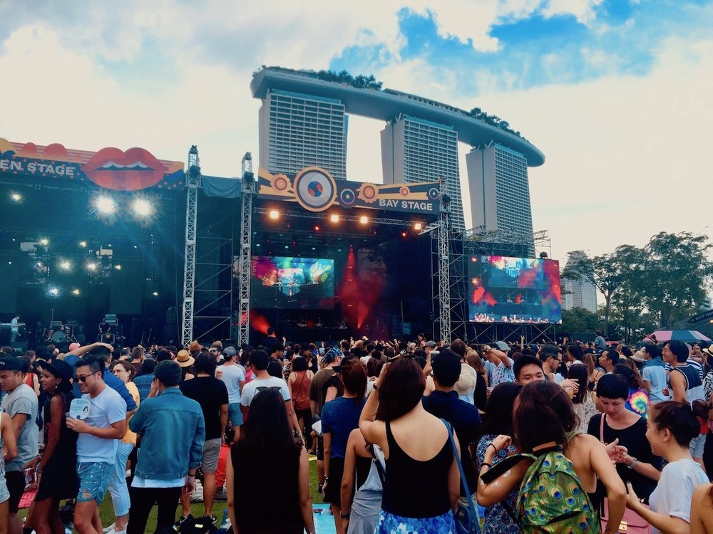 Laneway festival em Singapura. Foto: Patti Neves