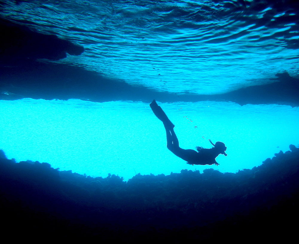 Euzinha no Grotto. Foto: David Mattatia