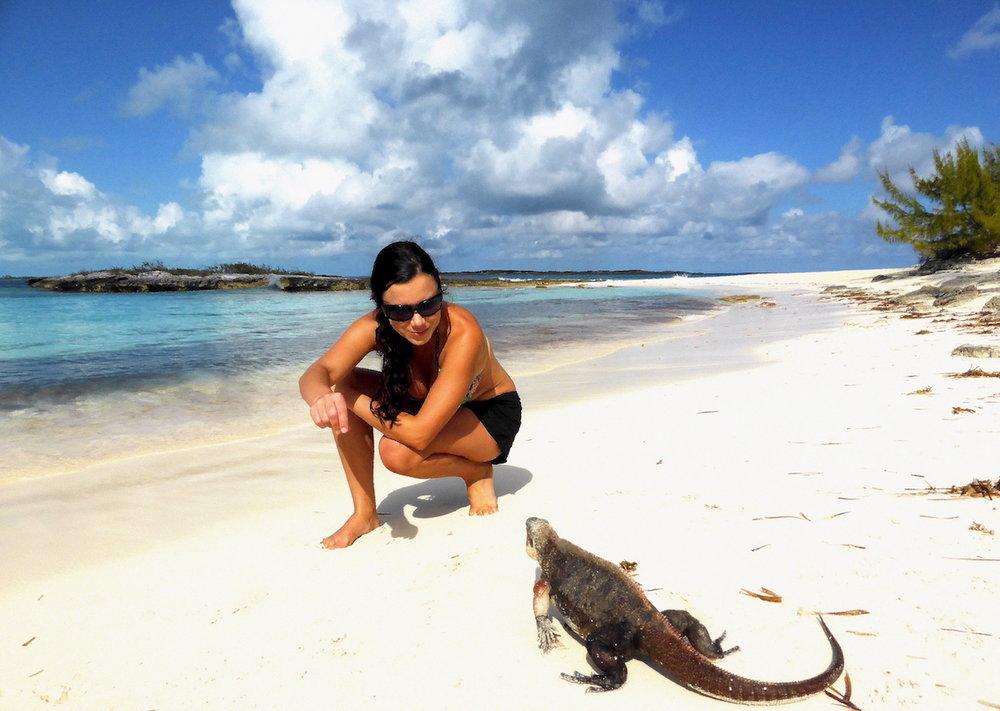 Mais uma amizade conquistada em Allen's Cay!
