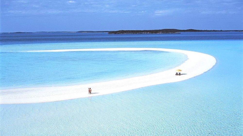 Musha Cay, a ilha que desaparece com as marés. Credit: The Globe and Mail
